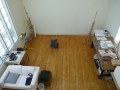Gushul Residency: Interior of the Studio from the Loft