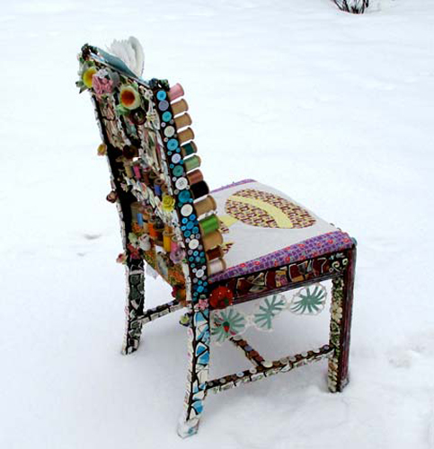 Marlena Wyman, The Sewing Chair and the Garden in Back